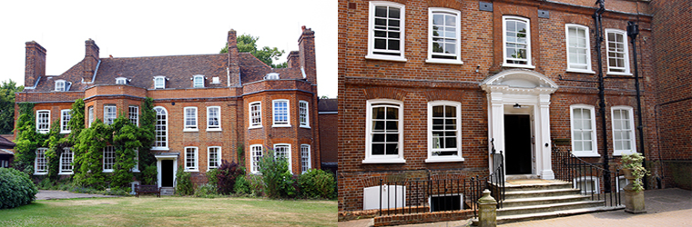 Two images showing the front of back of a rehab centre