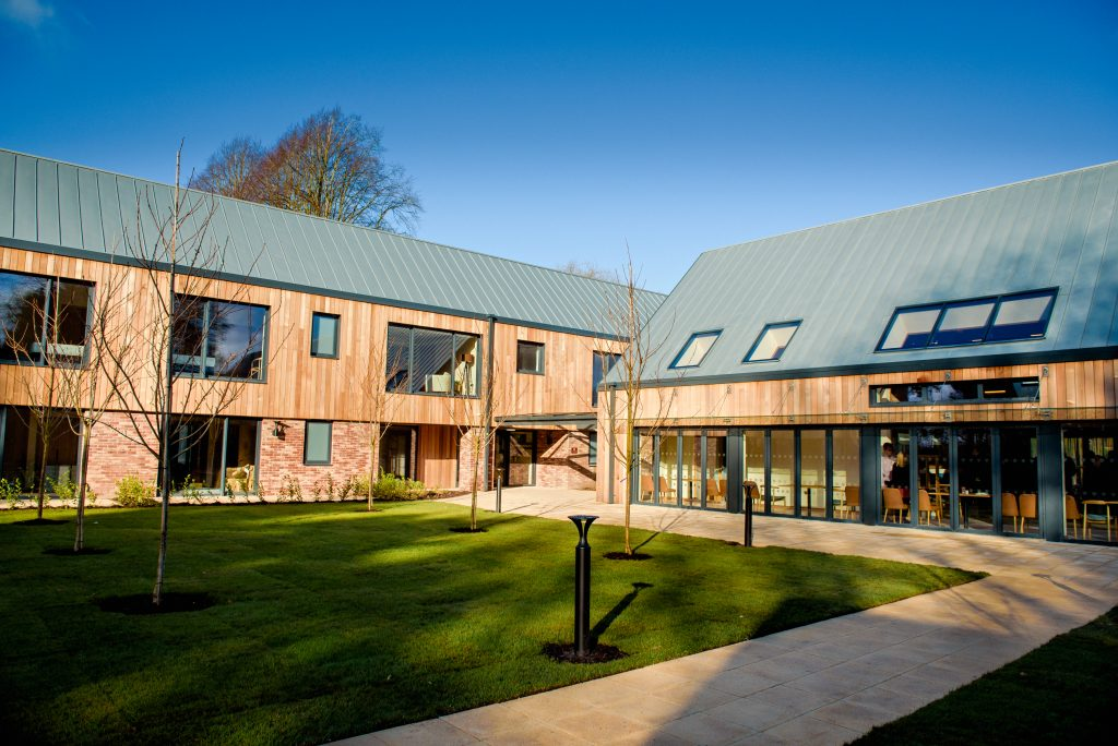Delamere clinic courtyard